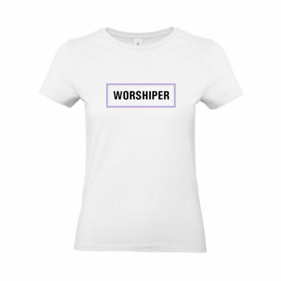 Worshiper női póló fehér