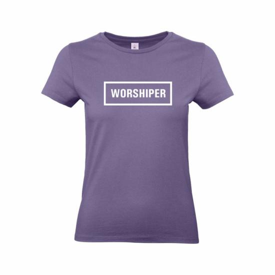 Worshiper női póló lila