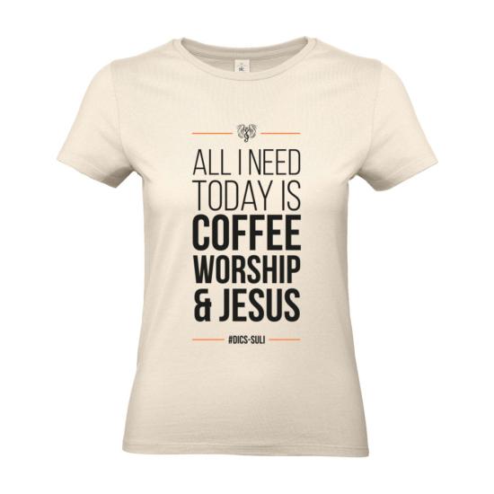 Coffee natúr női póló