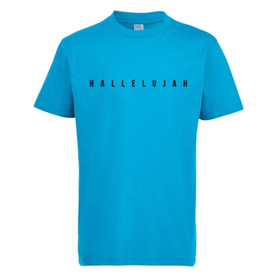 Hallelujah kék gyerek póló