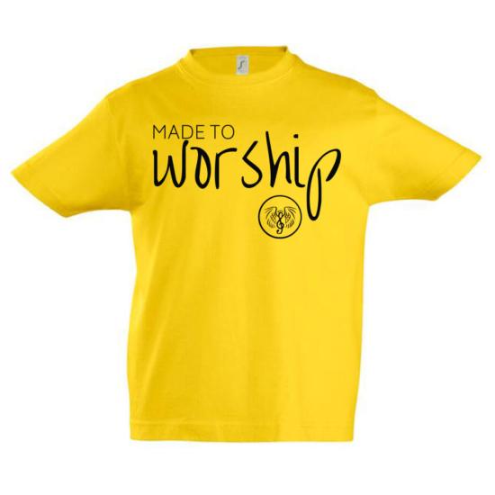 Made to worship napsárga gyerek póló