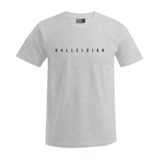 Hallelujah világos szürke férfi póló