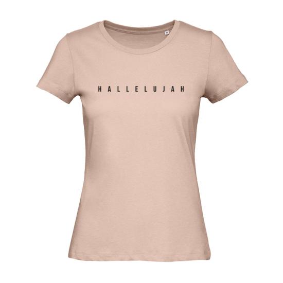 Hallelujah púder rózsaszín női póló