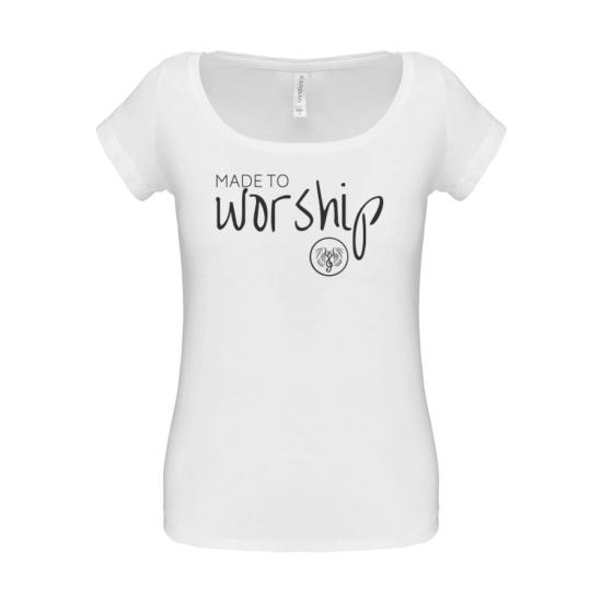 Made to Worship fehér női póló