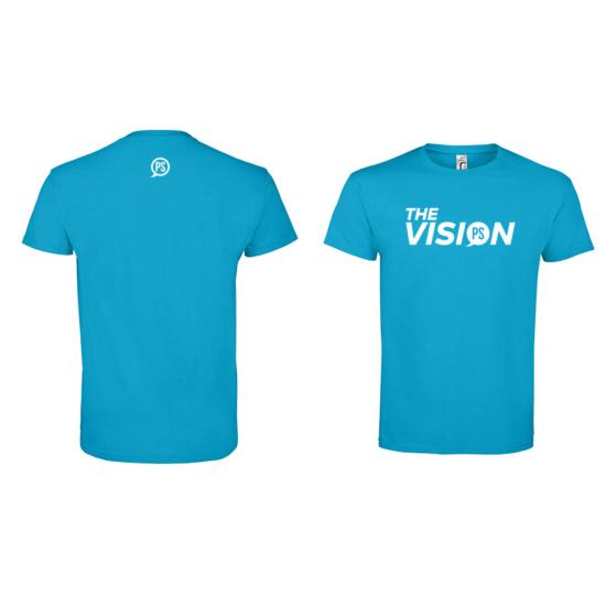 The Vision vízkék férfi póló