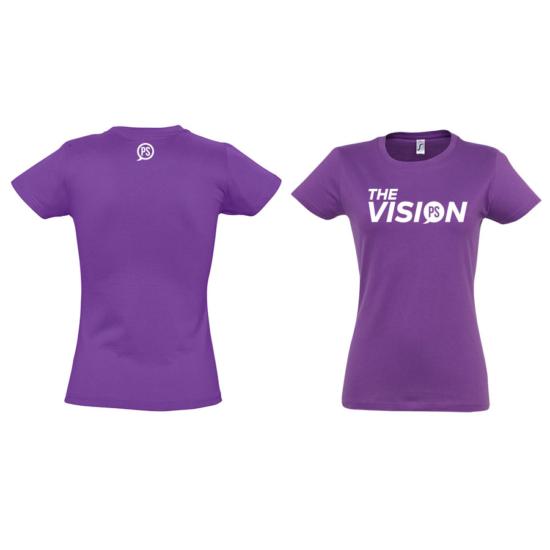 The Vision halvány lila női póló